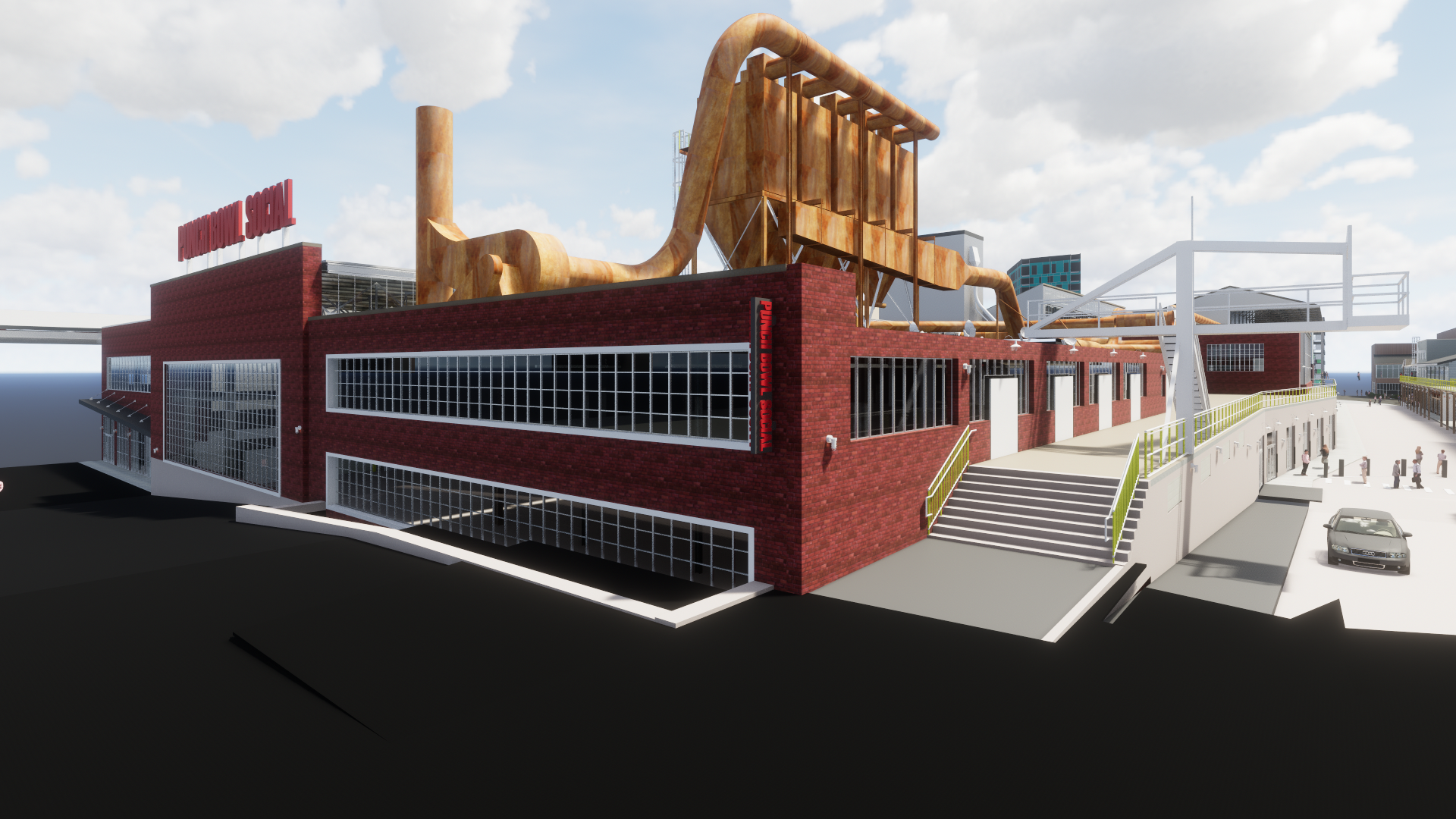 Alamo Drafthouse, Punch Bowl Social, and Fassler Hall to anchor City Foundry