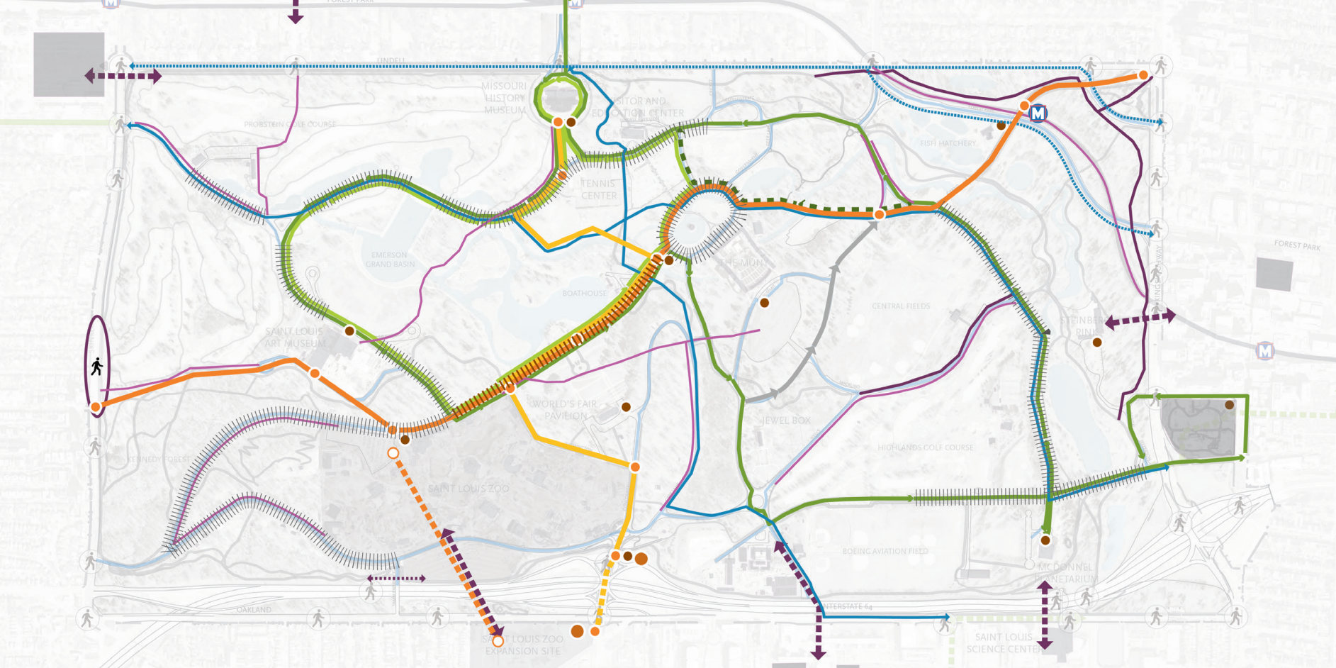 Forest Park Connectivity and Mobility Study Envisions Bike Share, Fixed-Route Transit, Remote Parking, and Much More