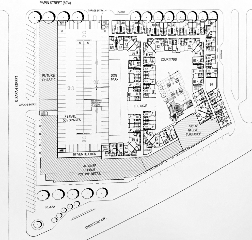 Chouteau's Grove site plan 2015