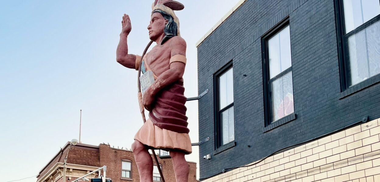 Cherokee Street Native Statue Removed