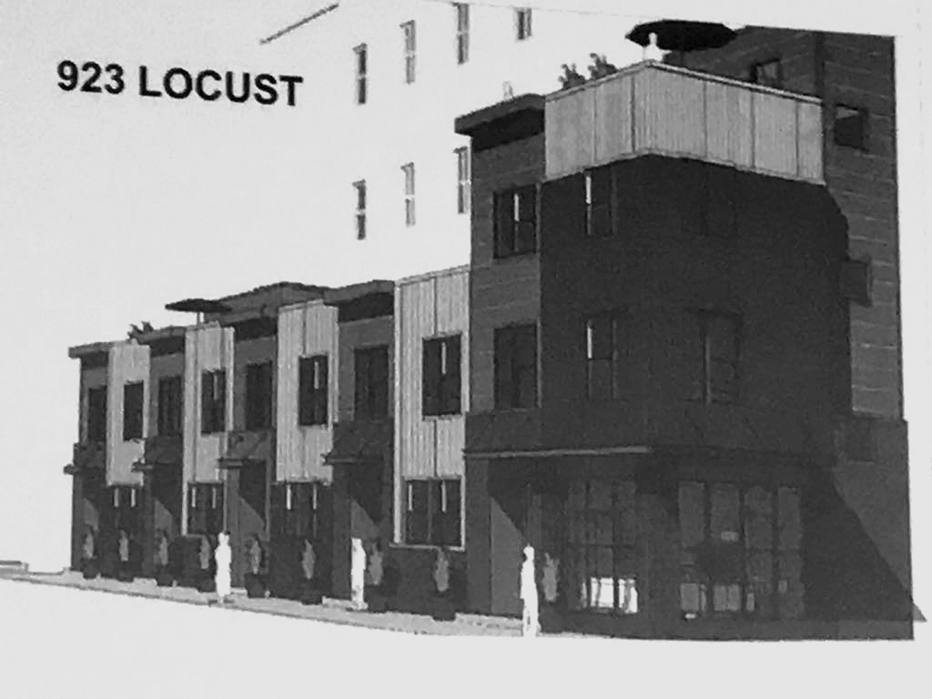 Five Townhomes Proposed for 10th and Locust in Downtown St. Louis