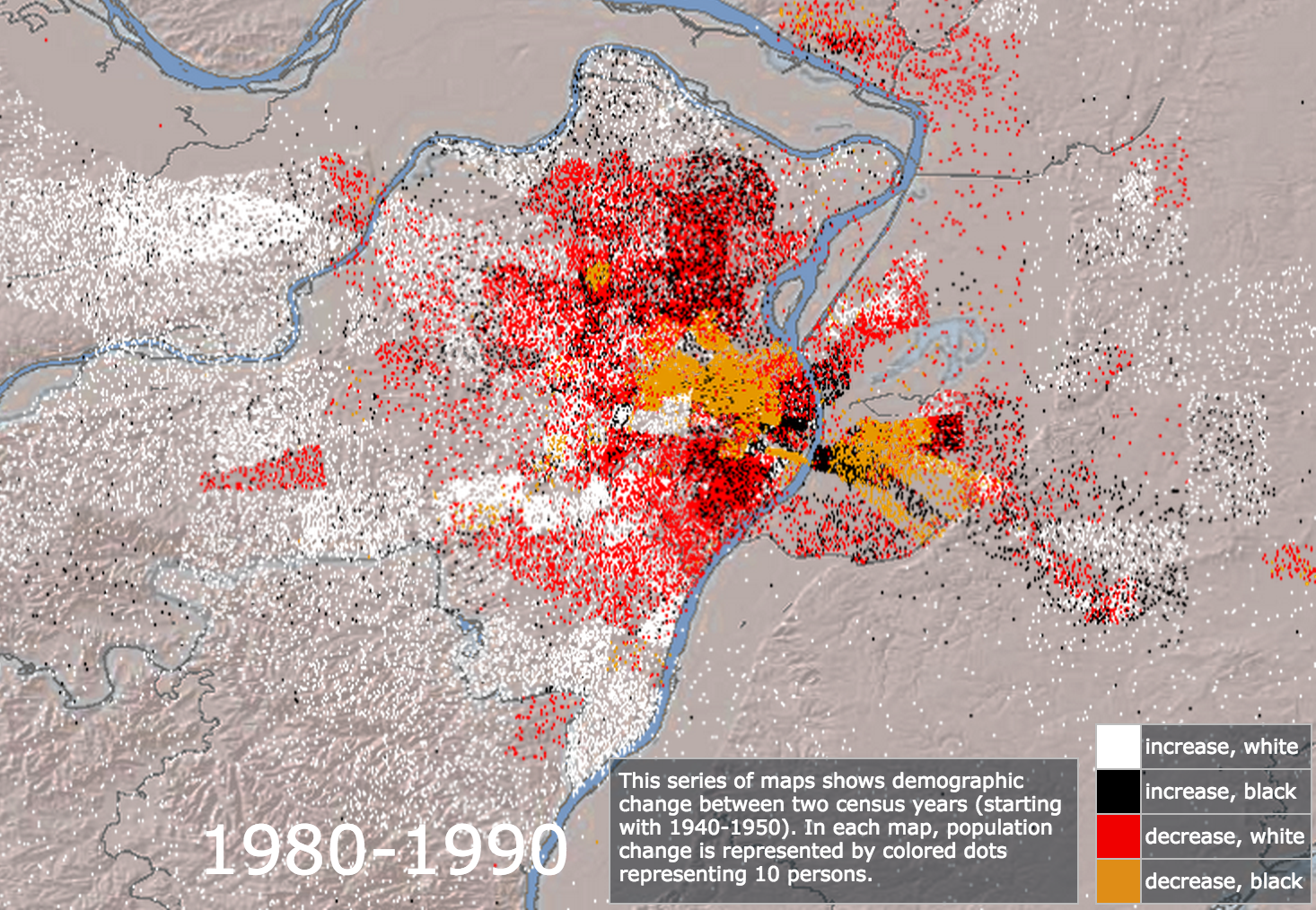 Mapping Decline 1980-1990