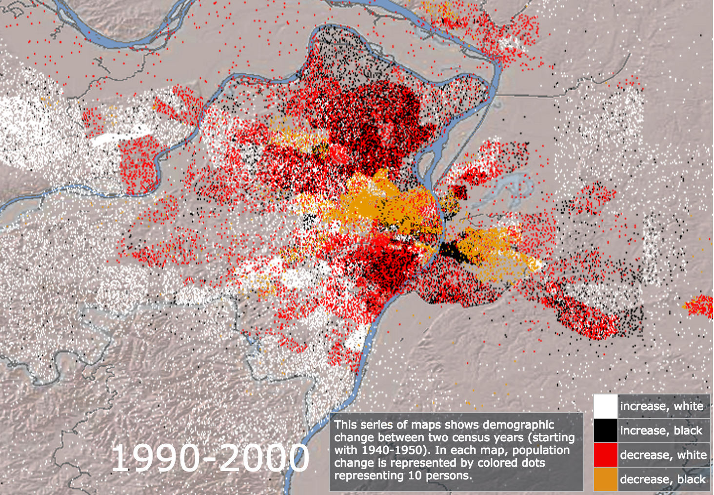 Mapping Decline 1990-2000
