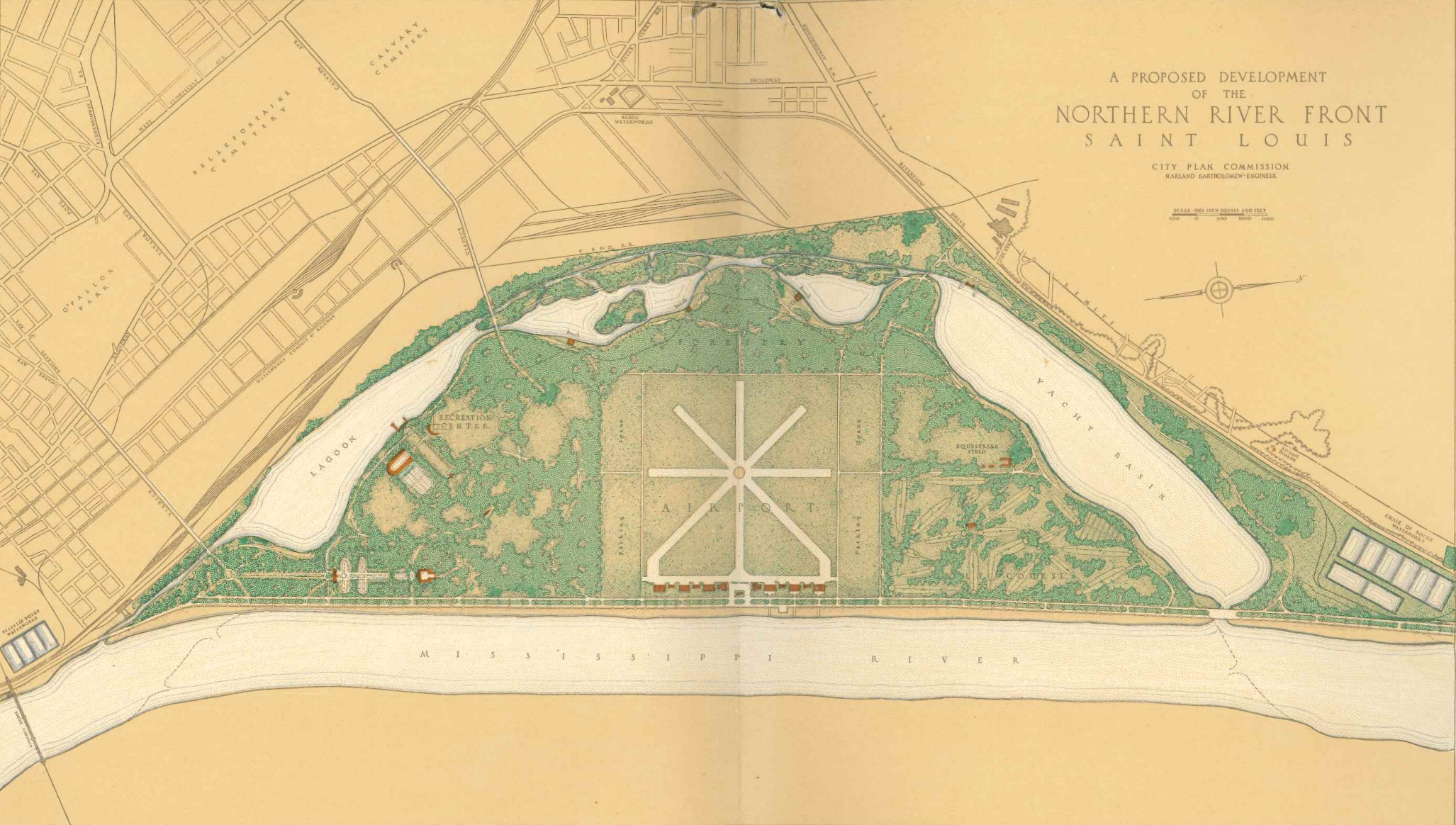 Plans for the Northern and Southern Riverfronts – St. Louis 1929