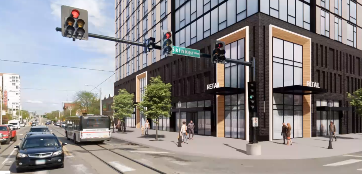 Opus Plans 14-Story Student Housing at Delmar and Skinker