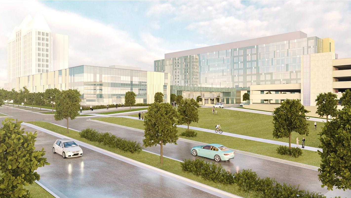 new renderings unveiled for 550m ssm slu hospital project nextstl