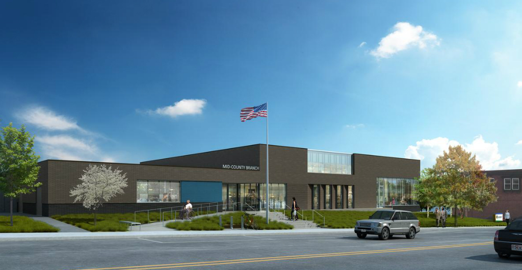 First Look: Demo, Replacement Planned for Clayton Mid-County Library Branch