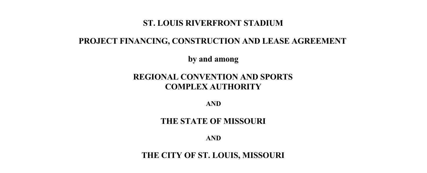 Board Bill 219 – Adoption of St. Louis Riverfront Stadium Project Financing, Construction and Lease Agreement