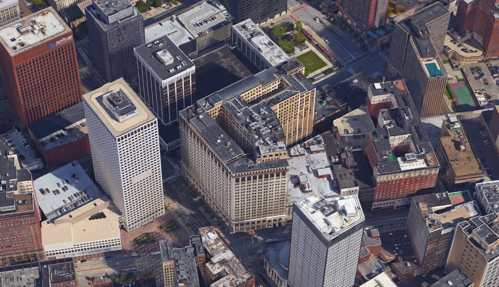 Huntington Building - Cleveland aerial