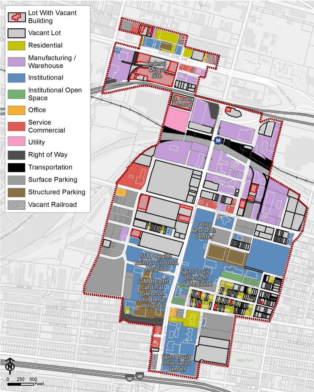 Midtown 353 Redevelopment Plan_current land use