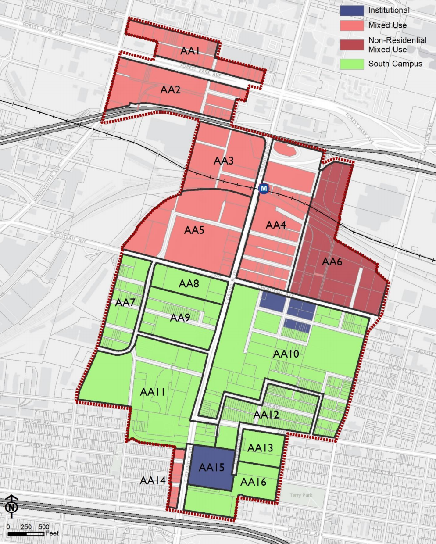 Midtown 353 Redevelopment Plan_proposed land use