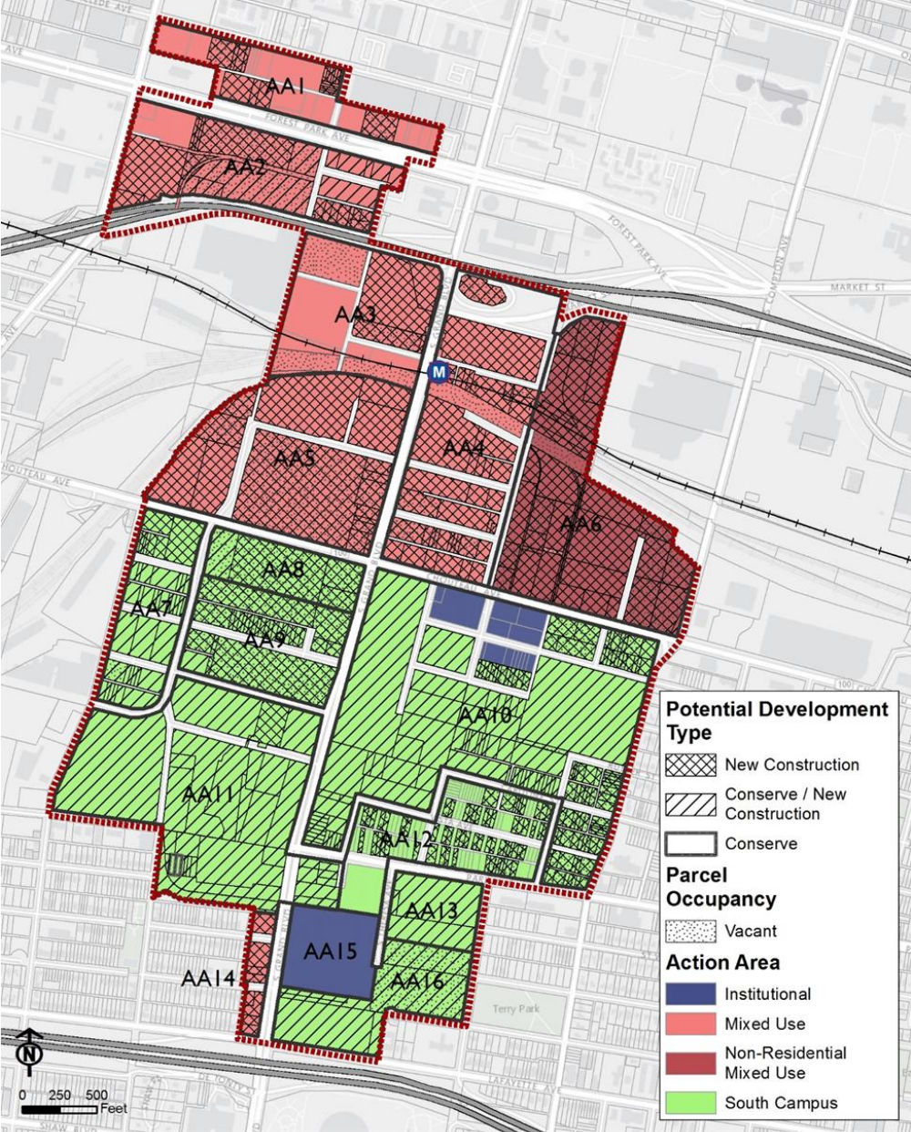 Midtown 353 Redevelopment Plan_potential development types