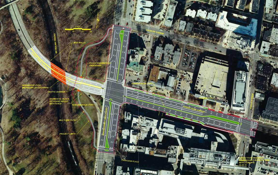 Kingshighway and Forest Park Parkway Set to Become At-Grade Intersection