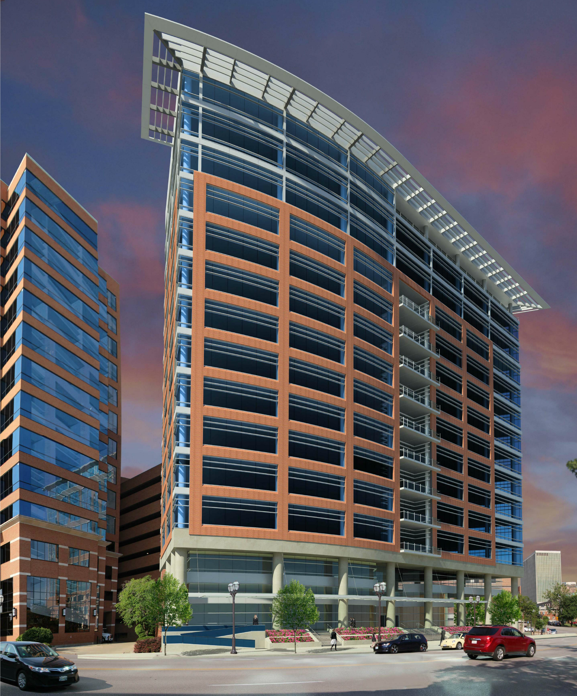 $68M, 14-Story, 233K SF Office Building Proposed for Clayton