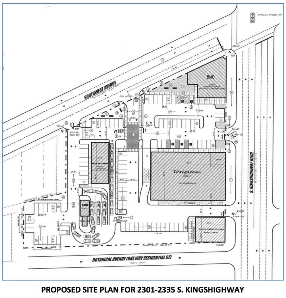 Walgreens at BMO Harris_Southwest Bank_site plan