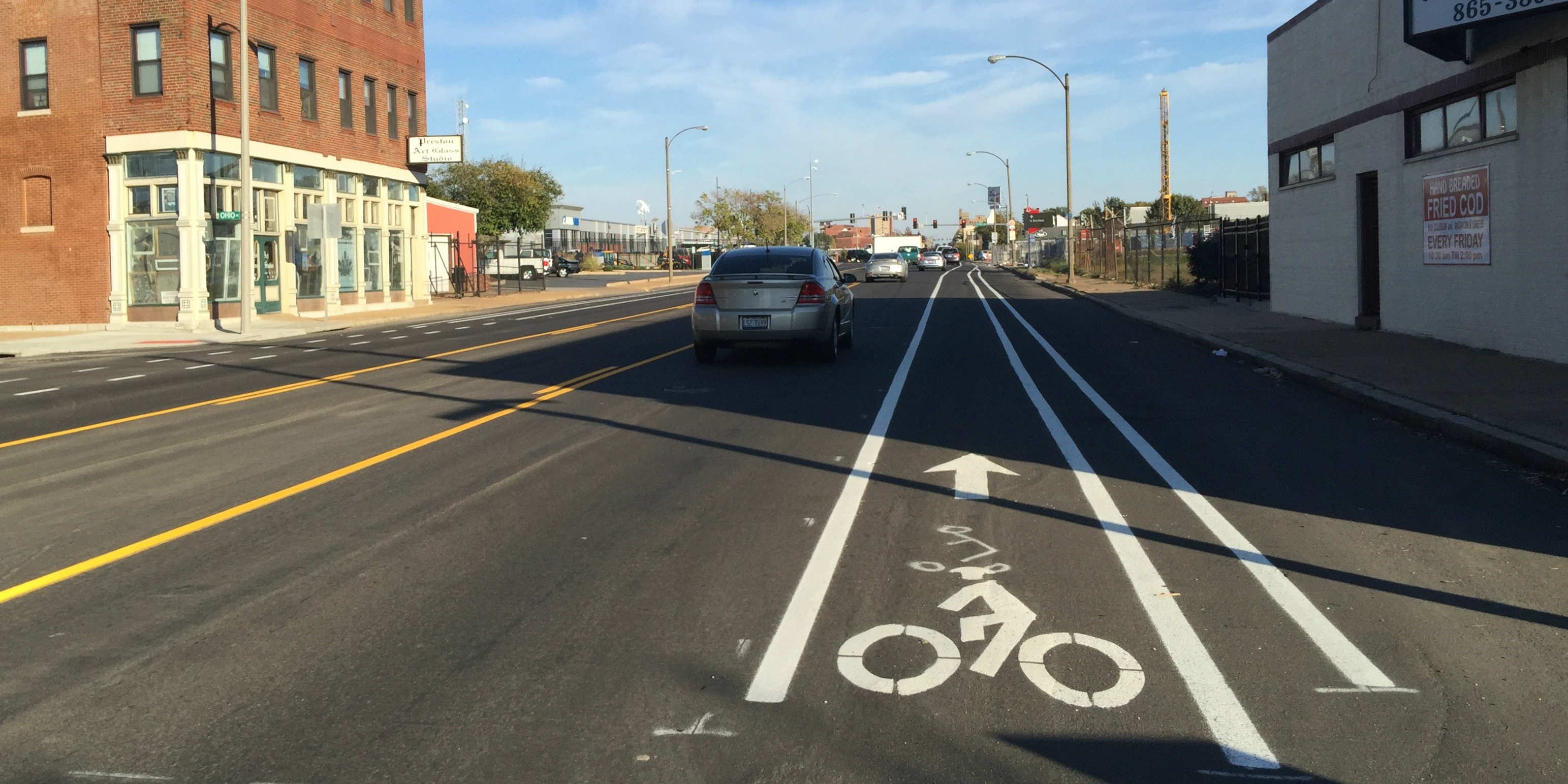 Chouteau Bike Lanes Finally Appear, Continue Hit-and-miss Planning