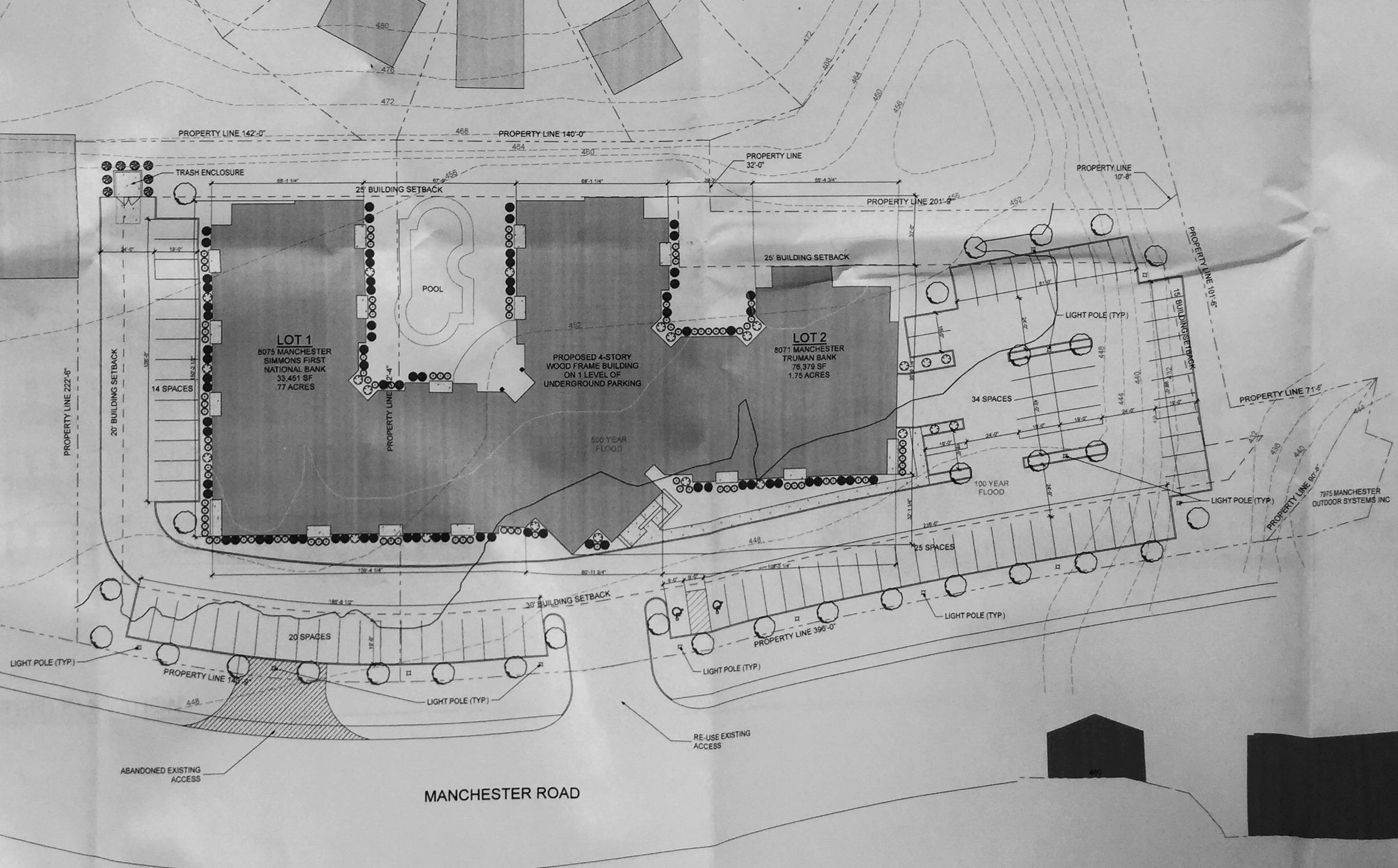 Plans Presented for 108-Unit Apartment Development at Manchester-Hanley