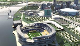 nfl stadium perspective